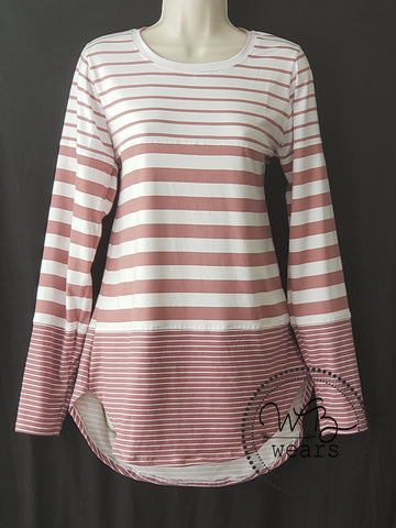 Striped long-sleeved tunic ~Women's Large
