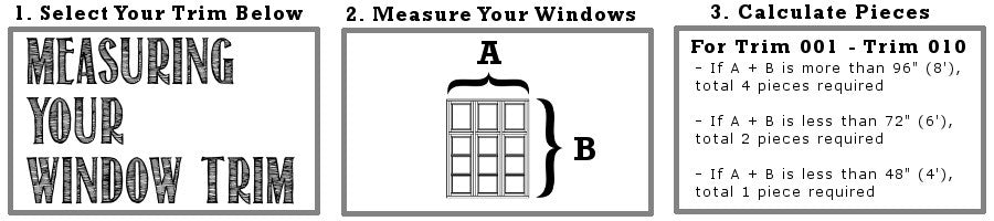 Measuring window trim