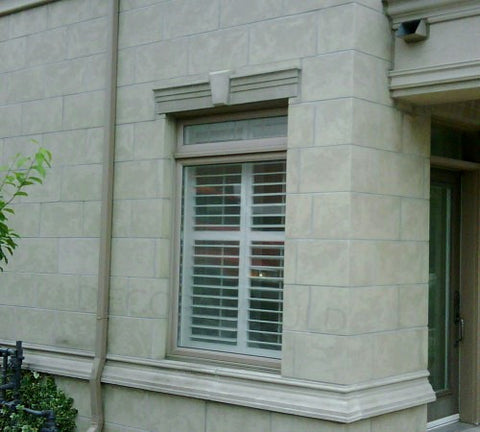 Exterior window trim headers decoramould exterior trim for Exterior keystone molding