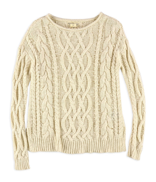 Denim \u0026 Supply Ralph Lauren Womens Cable Knit Sweater X-Small XS Ivory $98