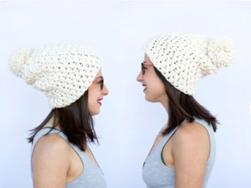 The Burlington PomPom hat **Crochet Pattern**