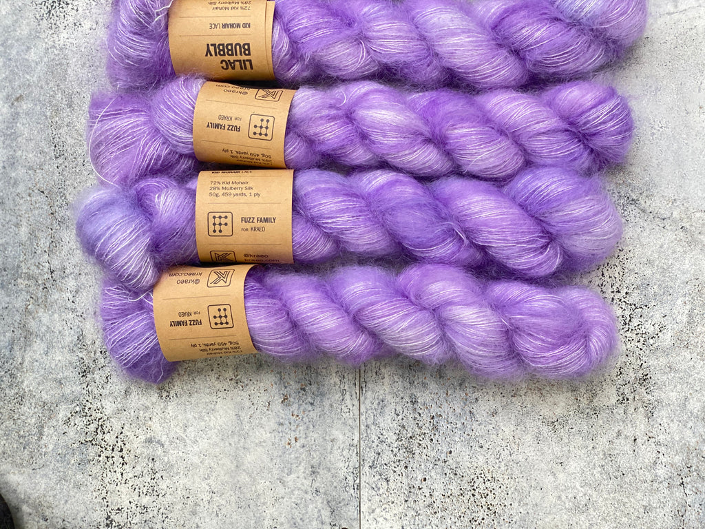 Lilac Bubbly on Kid Mohair