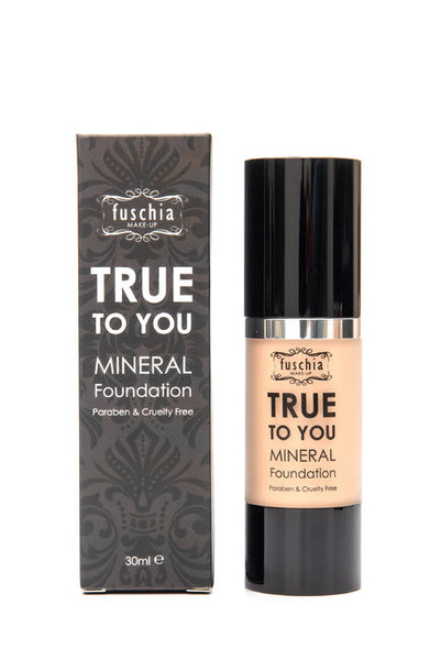 Fuschia Makeup True to You Liquid Mineral Foundation