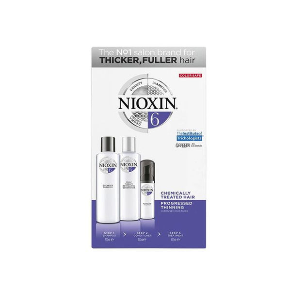 Nioxin - System Kit 6 for chemically-treated, bleached, permed or straightened hair with progressed thinning