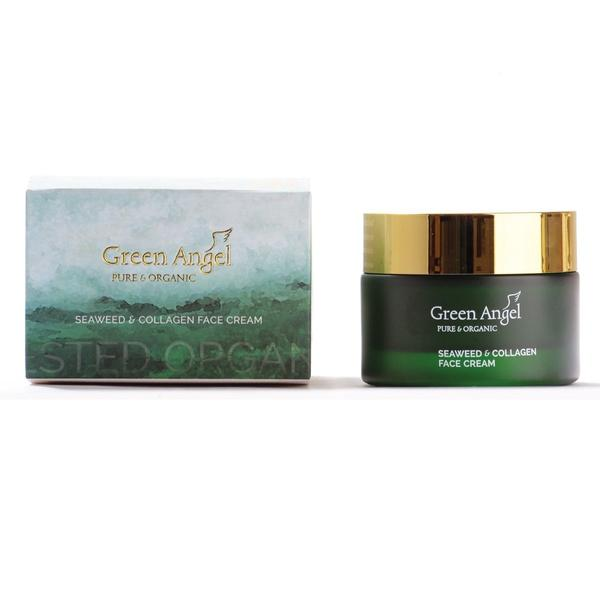 Green Angel Face Cream Seaweed & Collagen 50ml, Face Cream, Green Angel, Ronaghans Pharmacy , [variant_title], [option1], [option2], [option3].Green Angel Face Cream Seaweed & Collagen 50ml - Ronaghans Pharmacy