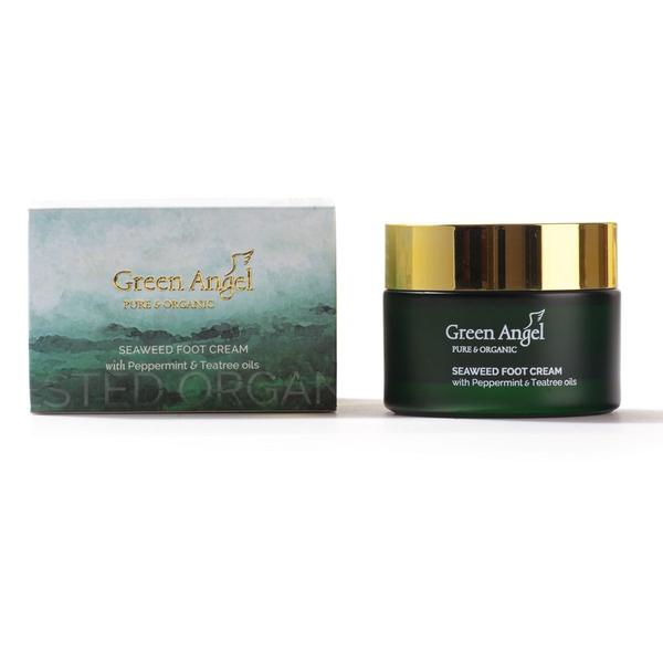Green Angel Foot Cream Seaweed & Peppermint 50ml, Foot Cream, Green Angel, Ronaghans Pharmacy , [variant_title], [option1], [option2], [option3].Green Angel Foot Cream Seaweed & Peppermint 50ml - Ronaghans Pharmacy