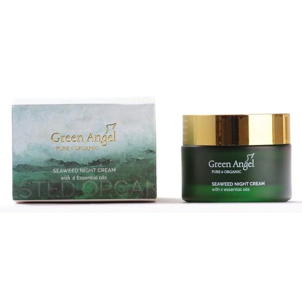 Green Angel Night Cream Seaweed 6 Essential Oils 50ml, Night Cream, Green Angel, Ronaghans Pharmacy , [variant_title], [option1], [option2], [option3].Green Angel Night Cream Seaweed 6 Essential Oils 50ml - Ronaghans Pharmacy