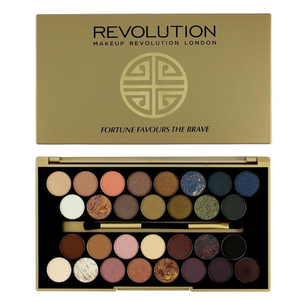 Makeup Revolution 30 Eyeshadow Palette Fortune Favours The Brave, Eyeshadow, Makeup Revolution, Ronaghans Pharmacy , [variant_title], [option1], [option2], [option3].Makeup Revolution 30 Eyeshadow Palette Fortune Favours The Brave - Ronaghans Pharmacy
