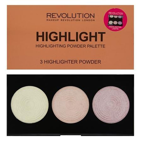 Makeup Revolution Highlighter Powder Palette, Highlighter, Makeup Revolution, Ronaghans Pharmacy , [variant_title], [option1], [option2], [option3].Makeup Revolution Highlighter Powder Palette - Ronaghans Pharmacy