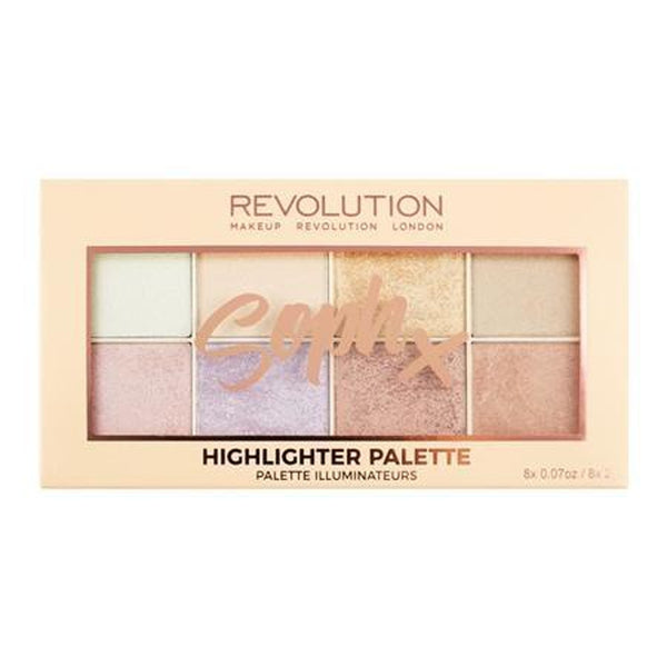 Makeup Revolution XSoph Highlighter Palette, Highlighter, Makeup Revolution, Ronaghans Pharmacy , [variant_title], [option1], [option2], [option3].Makeup Revolution XSoph Highlighter Palette - Ronaghans Pharmacy
