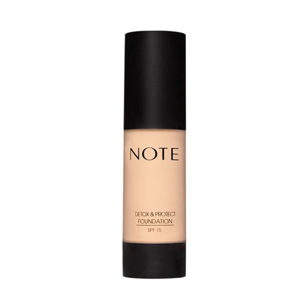 Note Cosmetics Detox & Protect Foundation 35ml, Foundation, Note Cosmetics, Ronaghans Pharmacy , [variant_title], [option1], [option2], [option3].Note Cosmetics Detox & Protect Foundation 35ml - Ronaghans Pharmacy