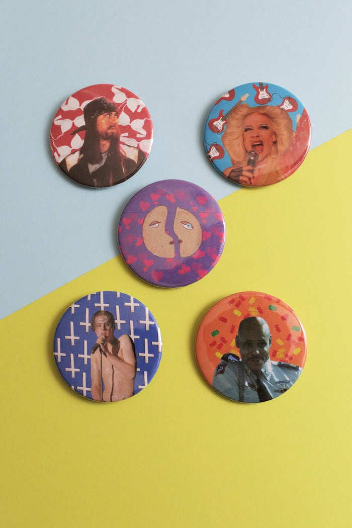 Set of Buttons from John Cameron Mitchell's musical Hedwig and the angry inch