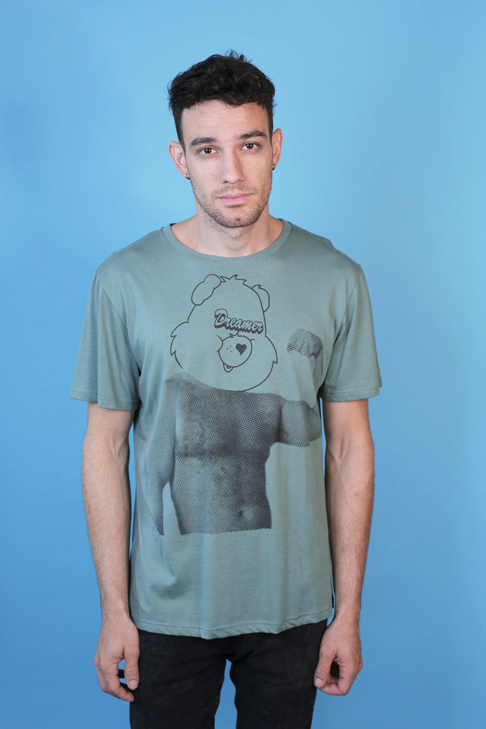 Army Green Muscle Bear Tee by the Dreamer