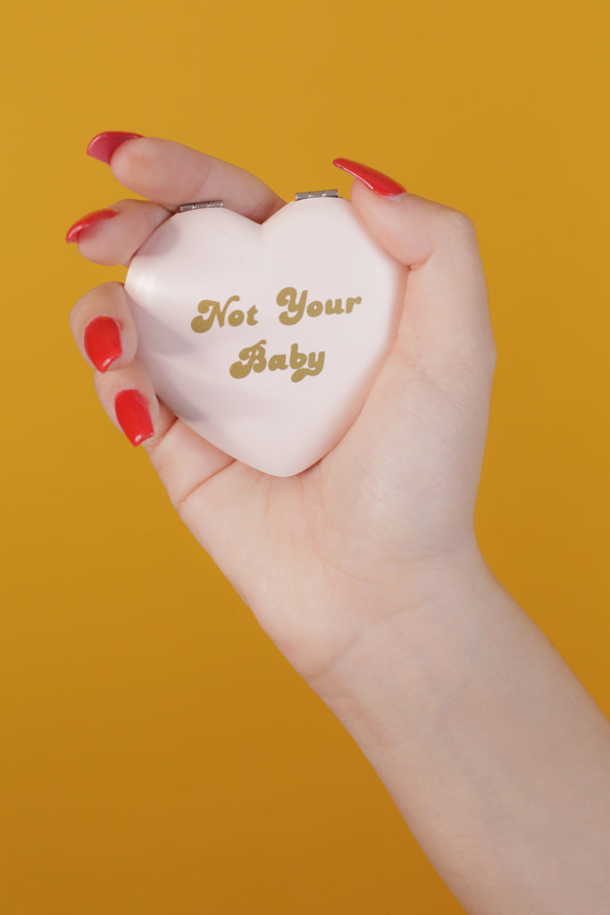 Baby pink Rosehound Apparel Not Your Baby Compact mirror