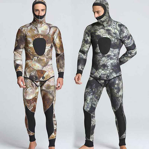 MYLEDI Men's 2-Piece Closed Cell 5mm Reef Camo Wetsuit