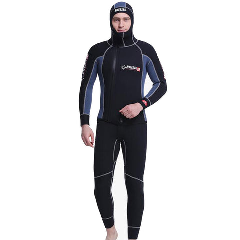 Two Piece 5MM Hooded Front Zip Wetsuit