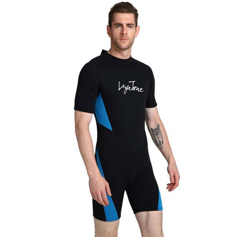 LAYATONE Mens 3mm Shorty Surfing Wetsuit
