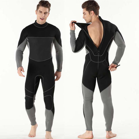 Men's Long Sleeve One Piece Back Zip