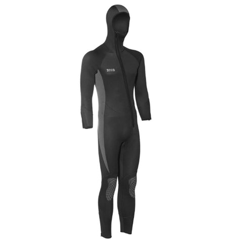 ZCCO 5MM Plus Size Front Zip Full Wetsuit with Hood