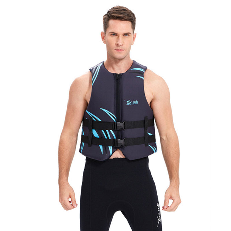 Yon Sub Adults Black Blue Boating Drifting Life Vest
