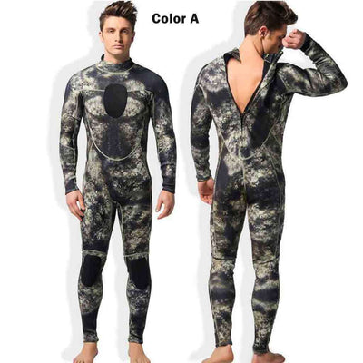 MYLEDI Men's 3mm Colorful Camo Wetsuit Spearfishing Suit