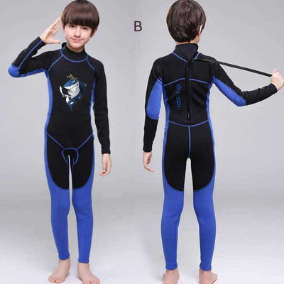 MYLEDI Animal Pattern Kids Teen 2mm Full Length Wetsuit for Boys Girls