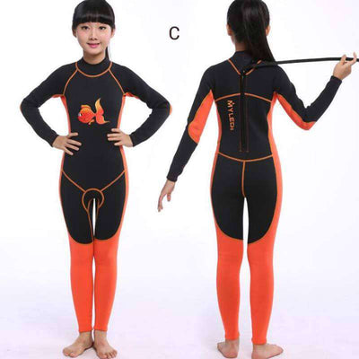 Animal Pattern Kids 2mm One Piece Wetsuit for Boys Girls