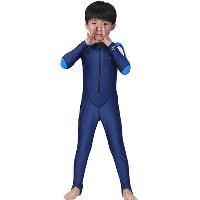 Dive & Sail Kids Blue One Piece Stirrup Dive Skin Suit