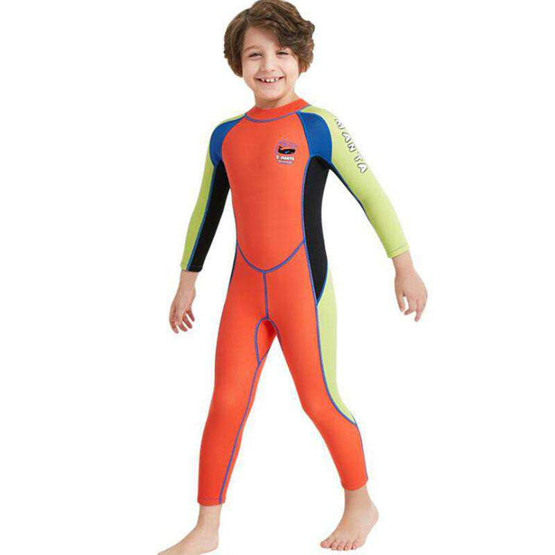 One Piece 2.5MM Boys Scuba Diving Wetsuit Long Sleeve
