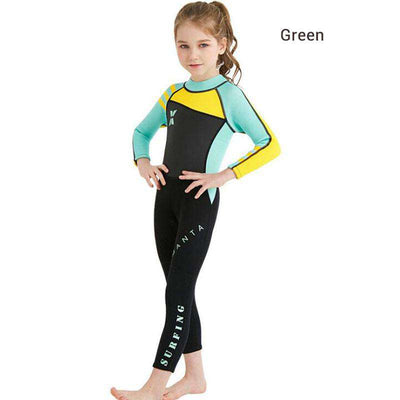 DIVE & SAIL Girls 2.5MM Full Length Wetsuit Kids Scuba Snorkeling Wet Suit