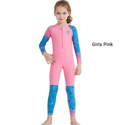 Kids Cartoon Print One Piece Diving Wetsuit Swimwear