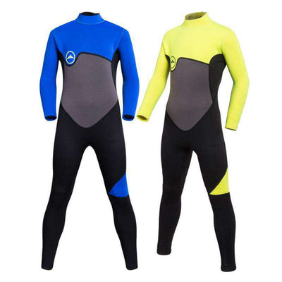 Boys 2mm Long Sleeve One Piece Full Wetsuit for Diving Snorkeling