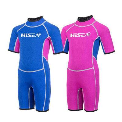 HISEA 2.5mm Junior Shorty Wetsuit for Girls Boys