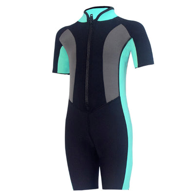 HISEA Childrens Toddlers 2MM Color Block Shorty Wetsuit