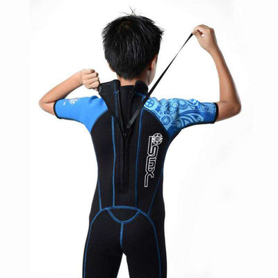 SLINX 2mm Kids Shorty Wetsuit Junior Snorkeling Suit for Boys Girls