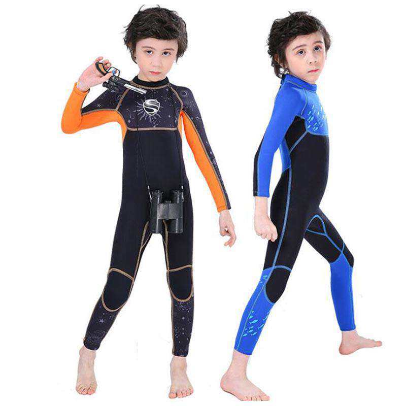 SLINX Boys 2.5mm One Piece Back Zip Full Length Junior Wetsuit