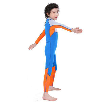 SLINX Boys Junior 2.5mm Full Length Wetsuit Kids Diving Surfing Suit