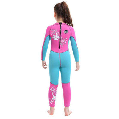 SLINX 3mm Floral Scuba Diving Full Wetsuit for Girls