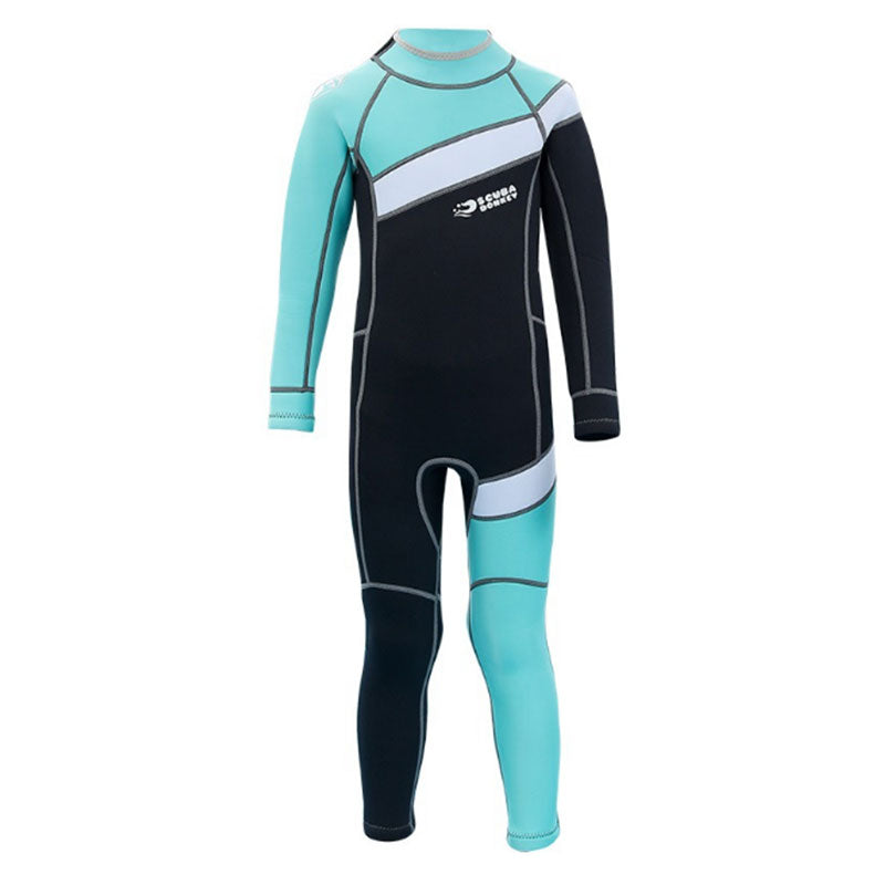 HISEA Kids 2.5mm Full Length Back Zip Wetsuit