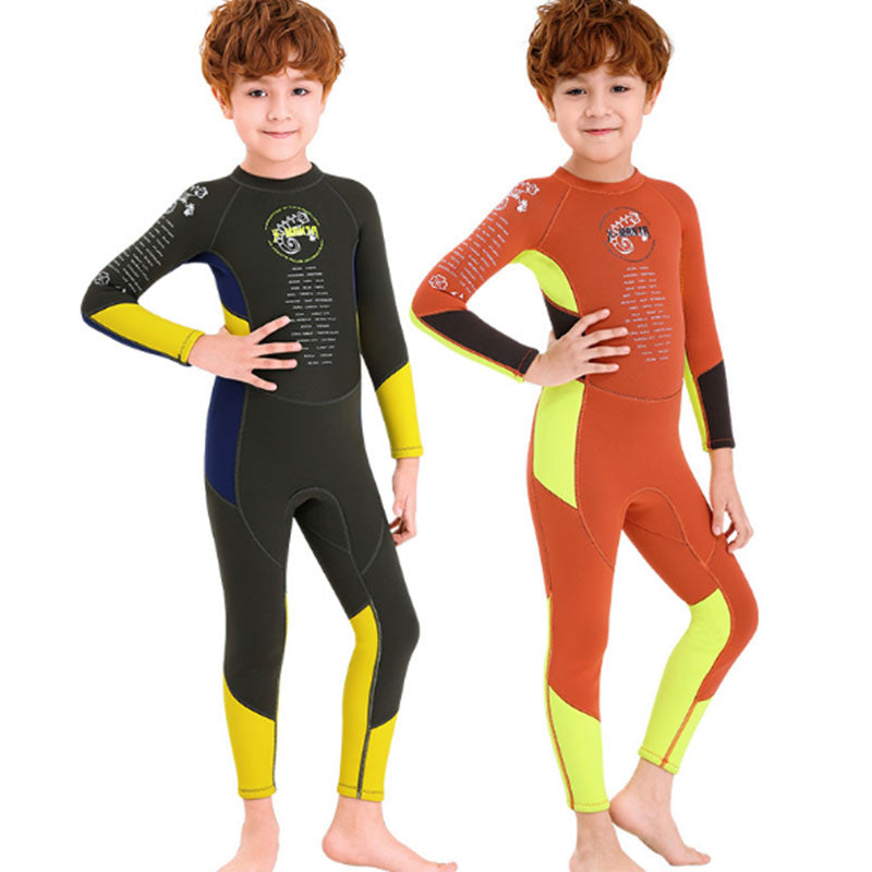 DIVE & SAIL Boys 2.5MM Multicolor Scuba Diving Wetsuit