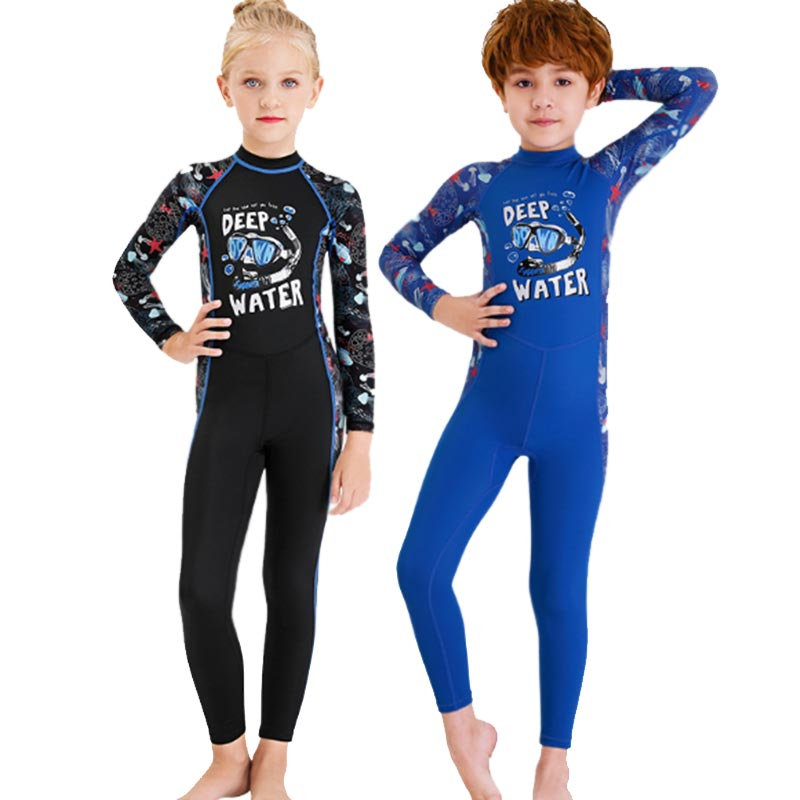 DIVE & SAIL Childrens Cartoon Full Body Dive Skin Suit