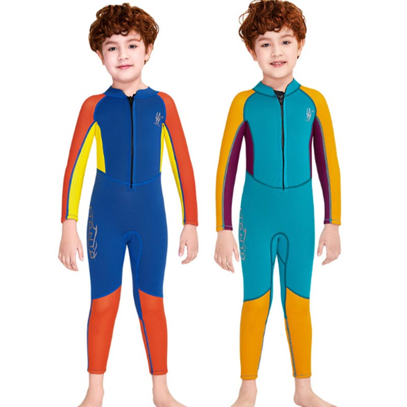Dive & Sail Boys 2.5MM Colorful Front Zip Full Wetsuit