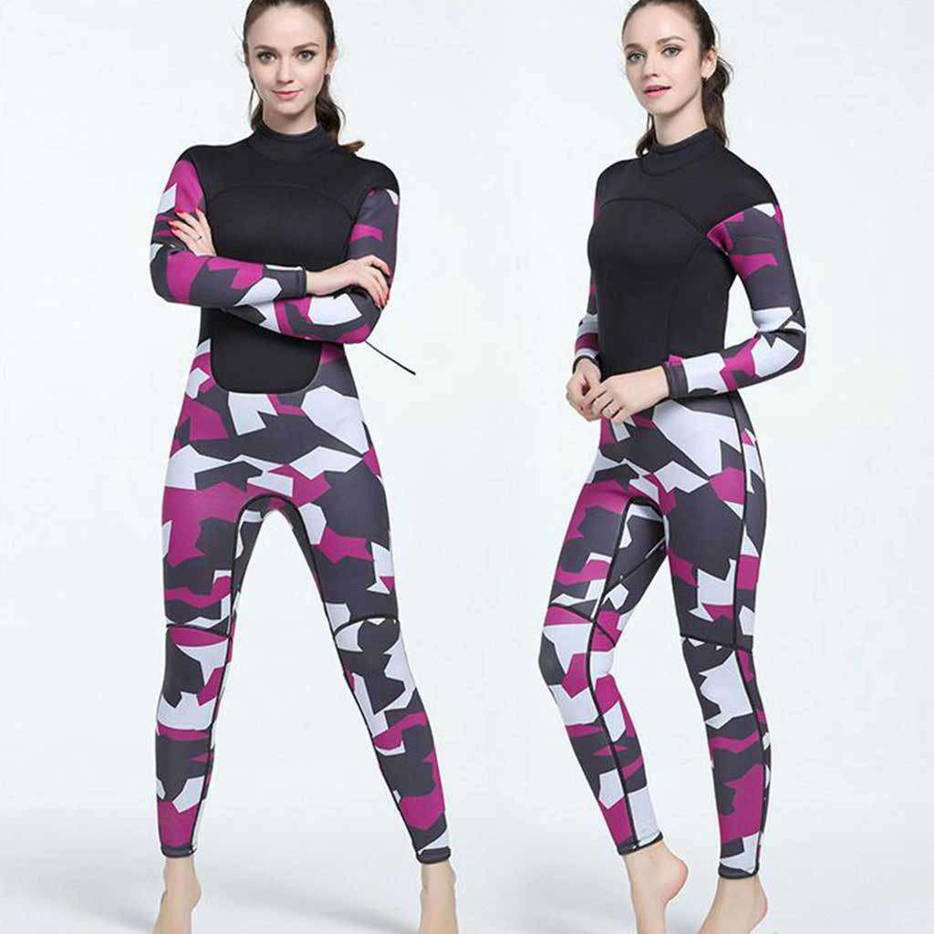 MYLEDI Womens 3MM Full Neoprene Camo Wetsuit