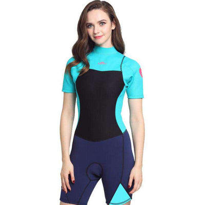 Ladies 2MM Neoprene One Piece Back Zip Shorty Wetsuit