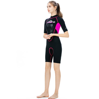 Short Sleeve 3mm One Piece Shorty Wetsuit for Ladies