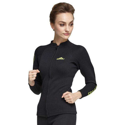 Ladies 2mm Long Sleeve Front Zip Wetsuit Jacket Top