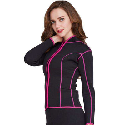 Stand-up Collar Long Sleeve Ladies 2mm Wetsuit Jacket