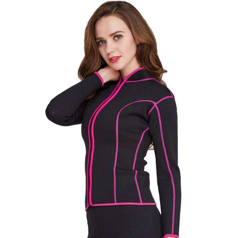 Stand-up Collar Long Sleeve Ladies 2mm Wetsuit Jacket - Buy4Outdoors 9e8d5e187