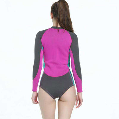 Ladies 2mm One Piece Long Sleeve Wetsuit Springsuit
