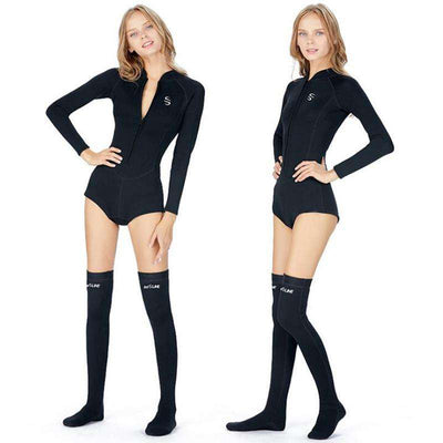 SLINX 2MM Ladies Long Sleeve Spring Suit Wetsuit with Diving Stockings